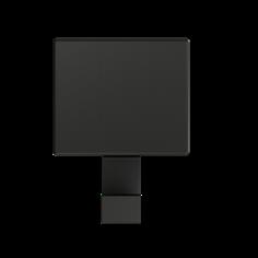 appendiabiti da parete nero opaco 1150 APPENDIABITI DA PARETE 1150, portabiti di design. Mital produttore di portabiti: portabito in zama pressofusa con kit di fissaggio a scomparsa.