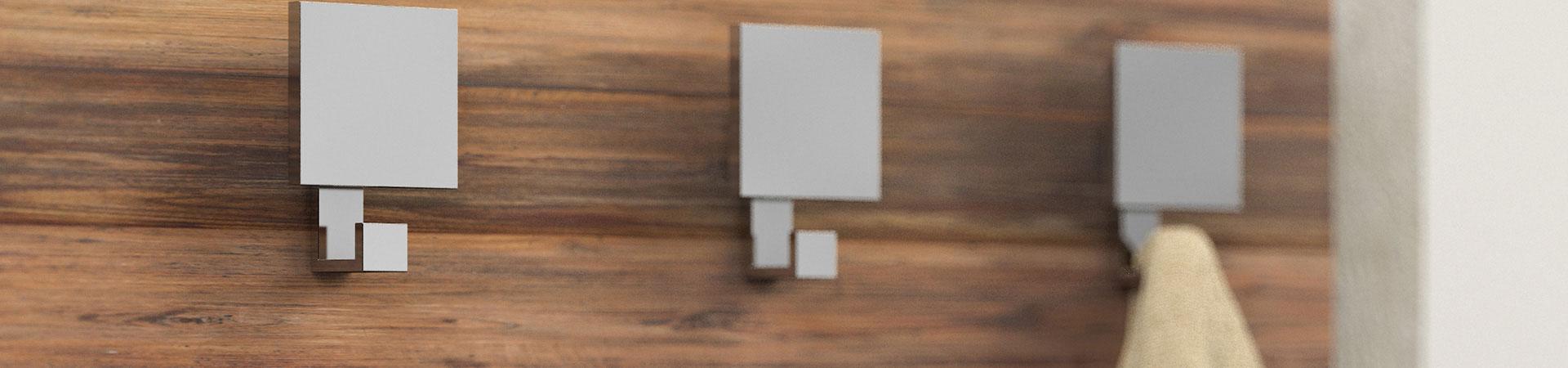 Maniglie pomelli appendiabiti e reggimensola mital - Appendiabiti da parete di design ...
